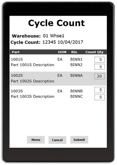 AdvancedWare provides Solutions for Epicor's DataFlo ERP System including Real-Time Barcode Cycle Count and Physical Inventory application